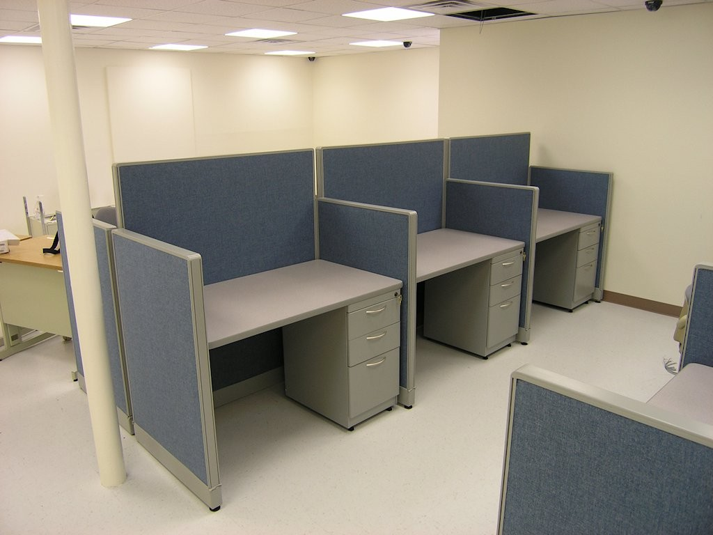 Three Telemarketing / Guest / Hotel Workstations